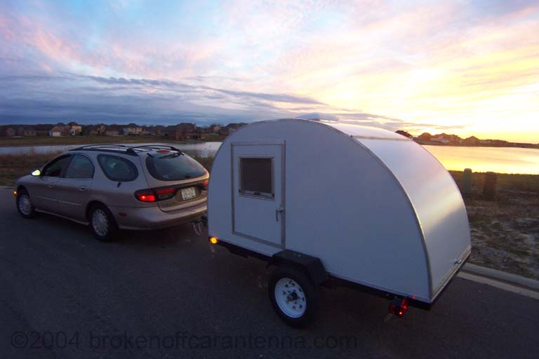 Shorty, her first teardrop trailer