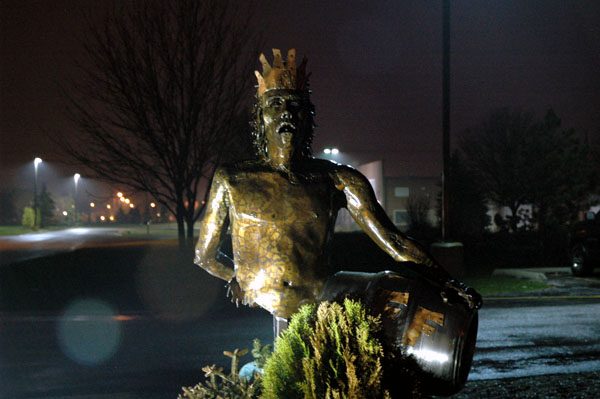 Alpha King Statue at Three Floyds Brewpub, Munster, IN